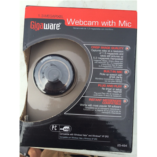 Gigaware 25-1176 1.3MP Webcam with Micphone