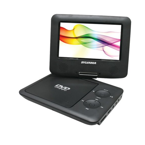 Sylvania SDVD7027 7-Inch Portable DVD Player Swivel Screen, Black (Certified Refurbished) …