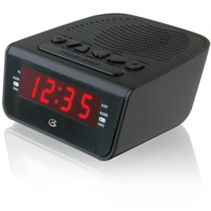 GPX C224-R Dual Alarm AM/FM Led Clock