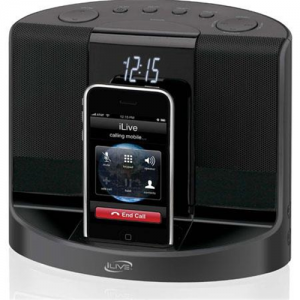 iLive ICP601B Clock Radio for ipod & iPhone-New Open Box
